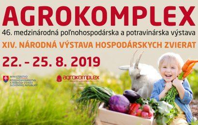 ZO SLOVENSKÝCH POLÍ AŽ NA VÁŠ TANIER AGROKOMPLEX 2019